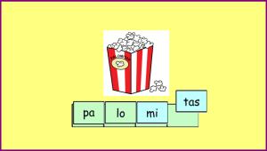 Descomposición silábica de palabras polisílabas.
